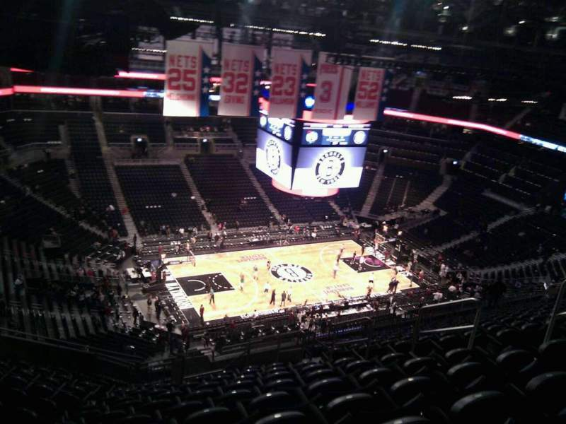 Seating view for Barclays Center Section 211 Row 17 Seat 9