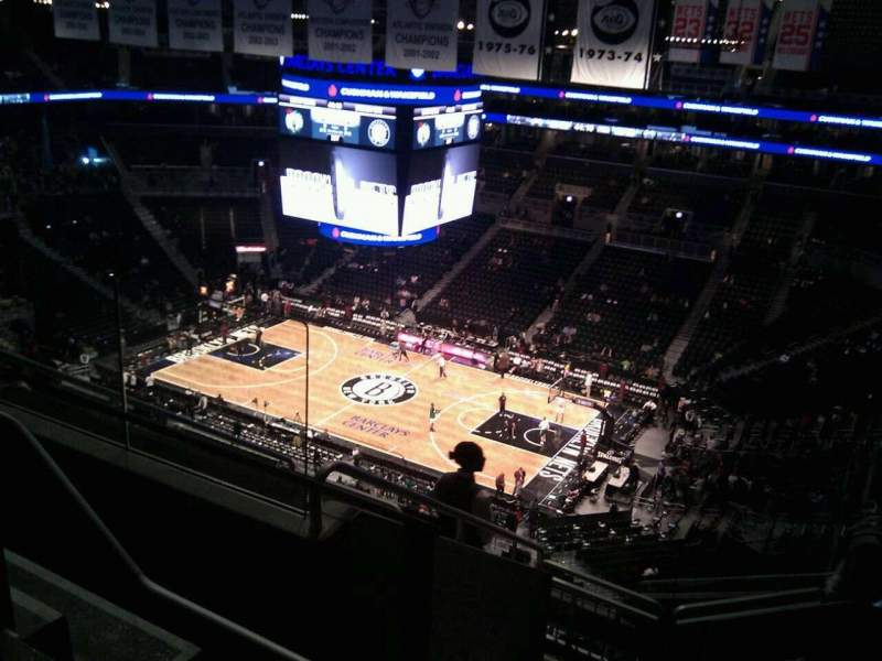 Seating view for Barclays Center Section 221 Row 9 Seat 11