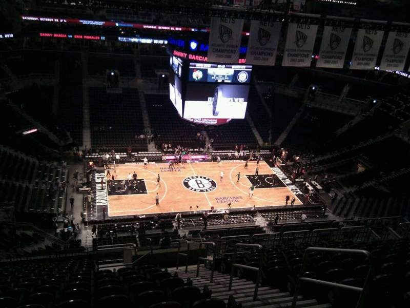 Seating view for Barclays Center Section 226 Row 17 Seat 4