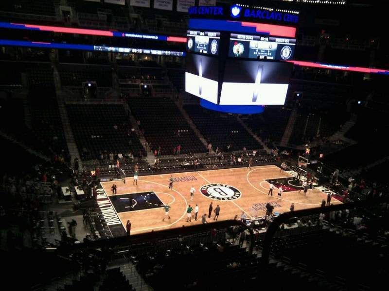 Seating view for Barclays Center Section 210 Row 1 Seat 29