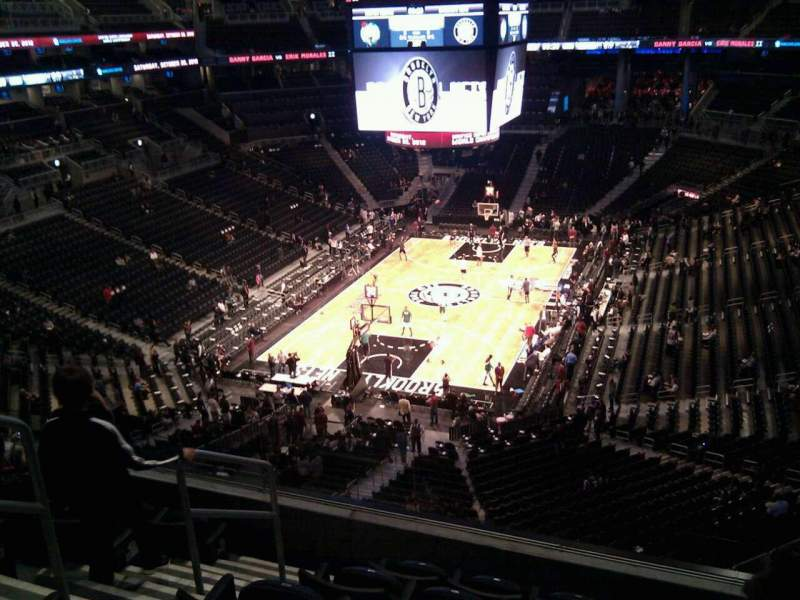 Seating view for Barclays Center Section 214 Row 6 Seat 14