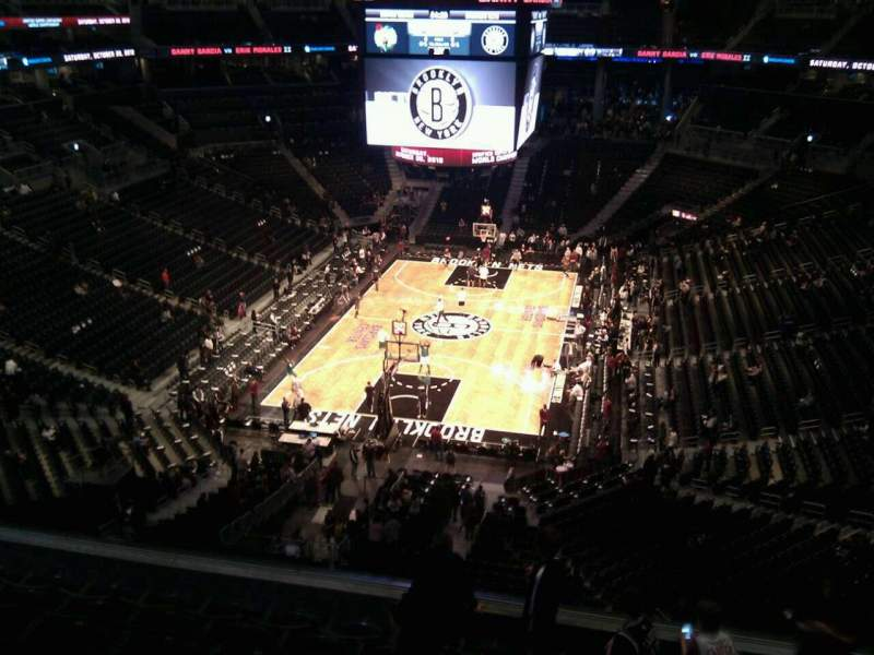 Seating view for Barclays Center Section 215 Row 7 Seat 16