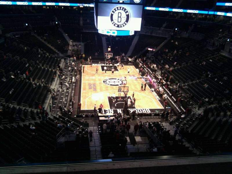 Seating view for Barclays Center Section 217 Row 13 Seat 9