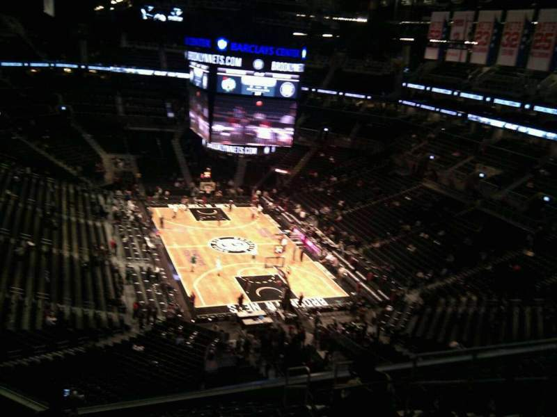 Seating view for Barclays Center Section 218 Row 11 Seat 4