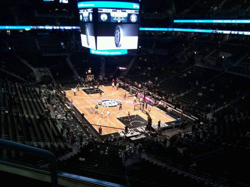 Seating view for Barclays Center Section 218 Row 3 Seat 13