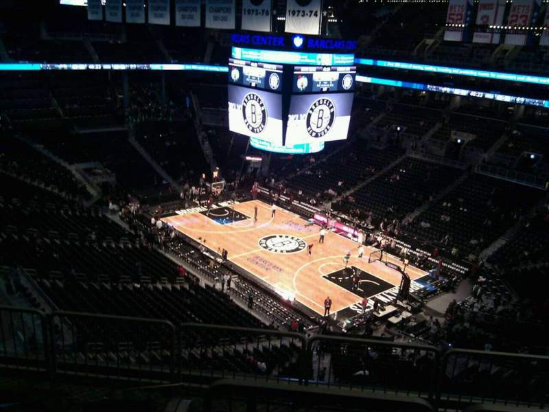 Seating view for Barclays Center Section 220 Row 12 Seat 6