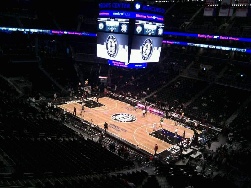 Seating view for Barclays Center Section 220 Row 4 Seat 17
