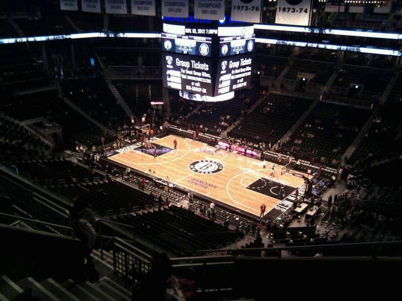 Seating view for Barclays Center Section 221 Row 17 Seat 1