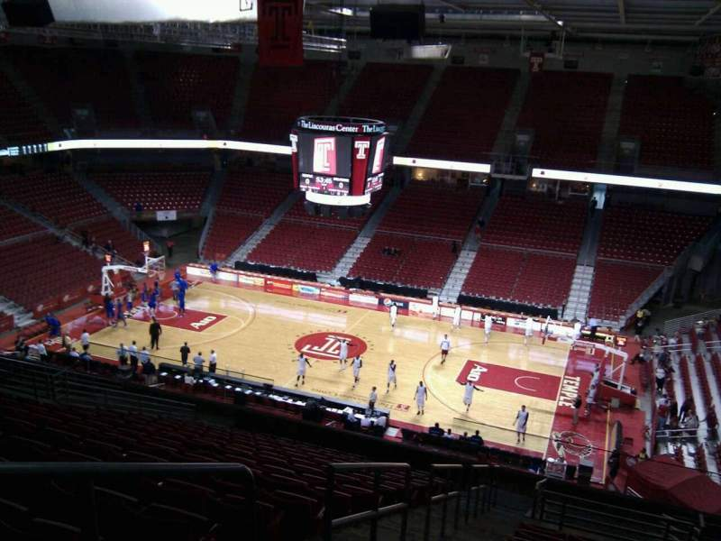 Seating view for Liacouras Center Section 201 Row r Seat 11