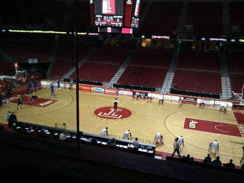 Seating view for Liacouras Center Section 202 Row a Seat 8