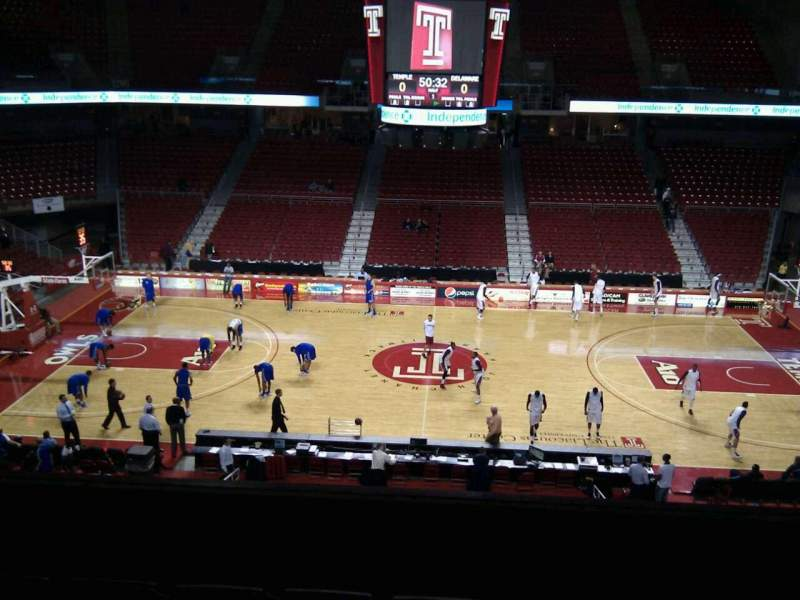 Seating view for Liacouras Center Section 203 Row e Seat 7