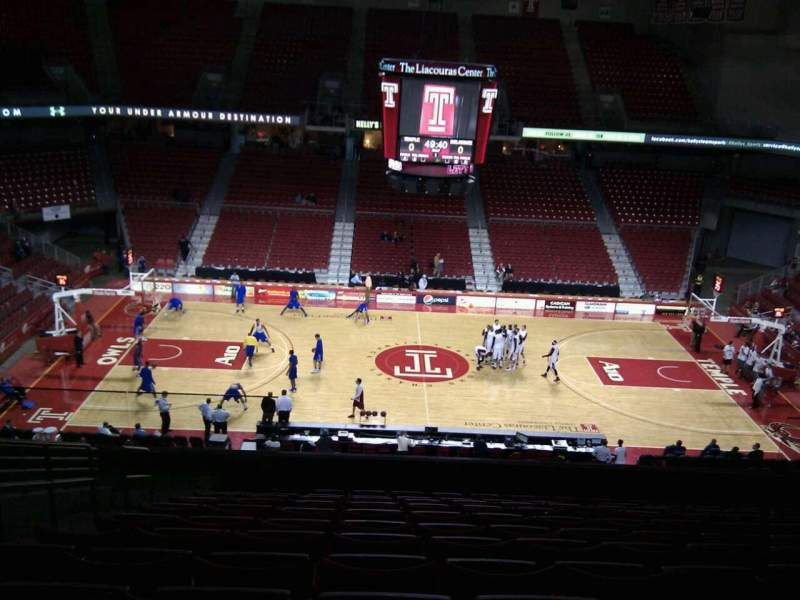 Seating view for Liacouras Center Section 203 Row m Seat 13