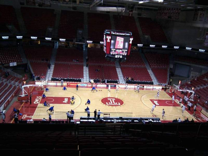 Seating view for Liacouras Center Section 204 Row q Seat 5