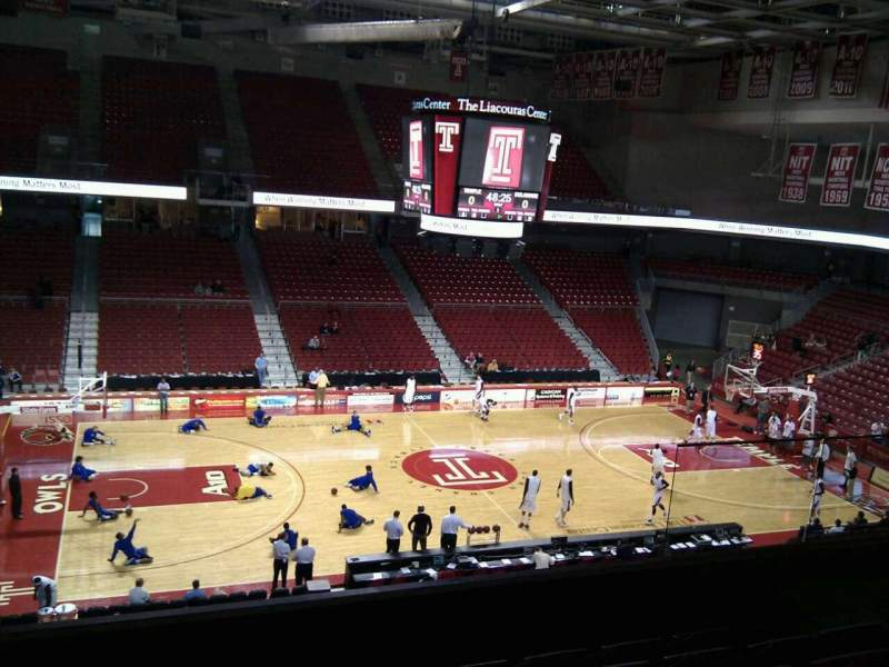 Seating view for Liacouras Center Section 204 Row f Seat 14