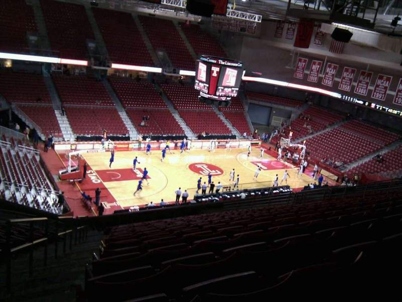 Seating view for Liacouras Center Section 205 Row s Seat 23