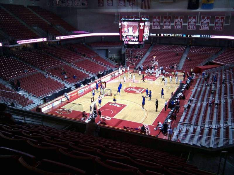 Seating view for Liacouras Center Section 207 Row k Seat 4