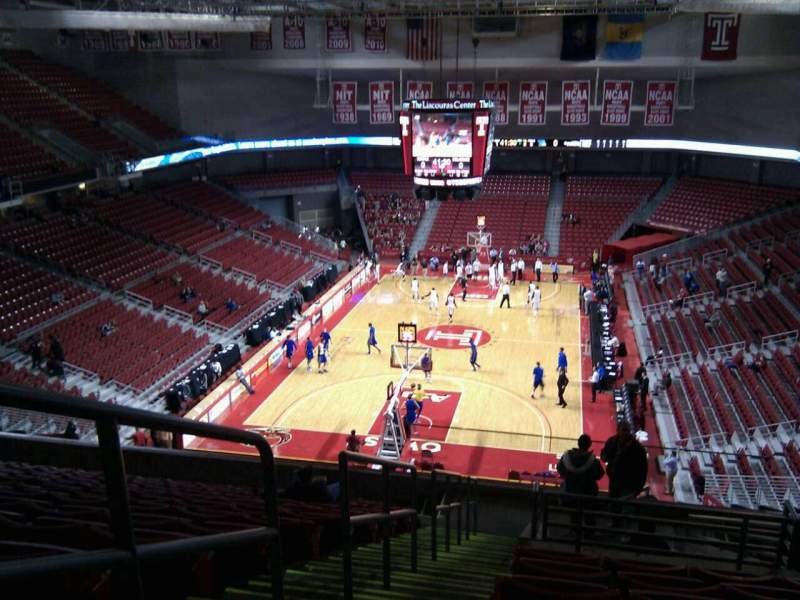 Seating view for Liacouras Center Section 207 Row n Seat 21