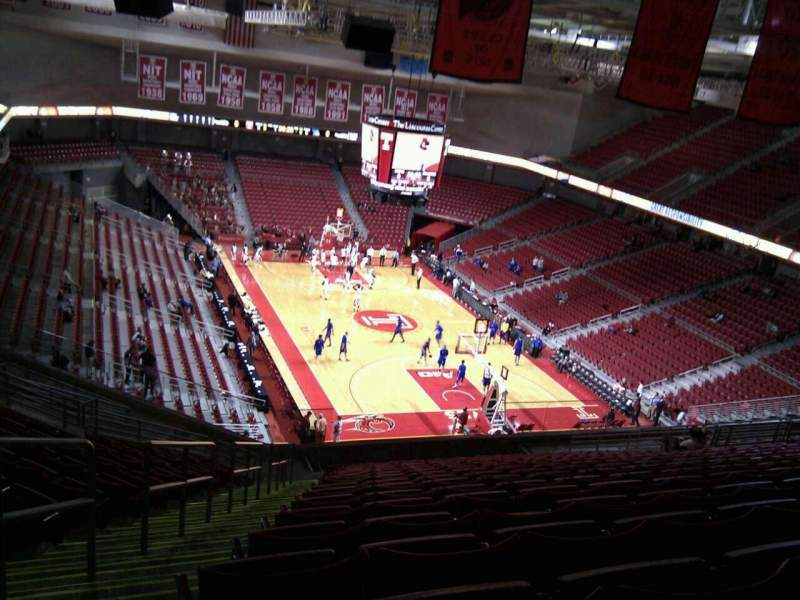 Seating view for Liacouras Center Section 209 Row t Seat 24
