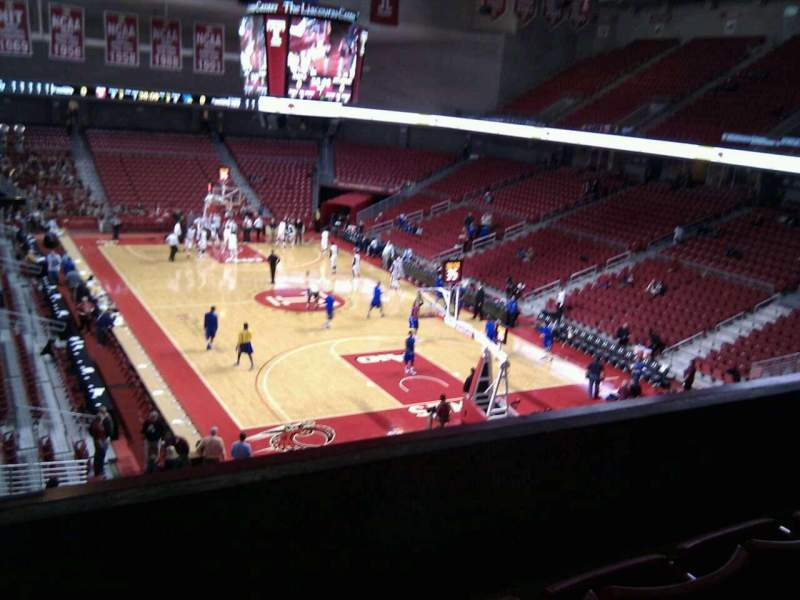Seating view for Liacouras Center Section 209 Row c Seat 11