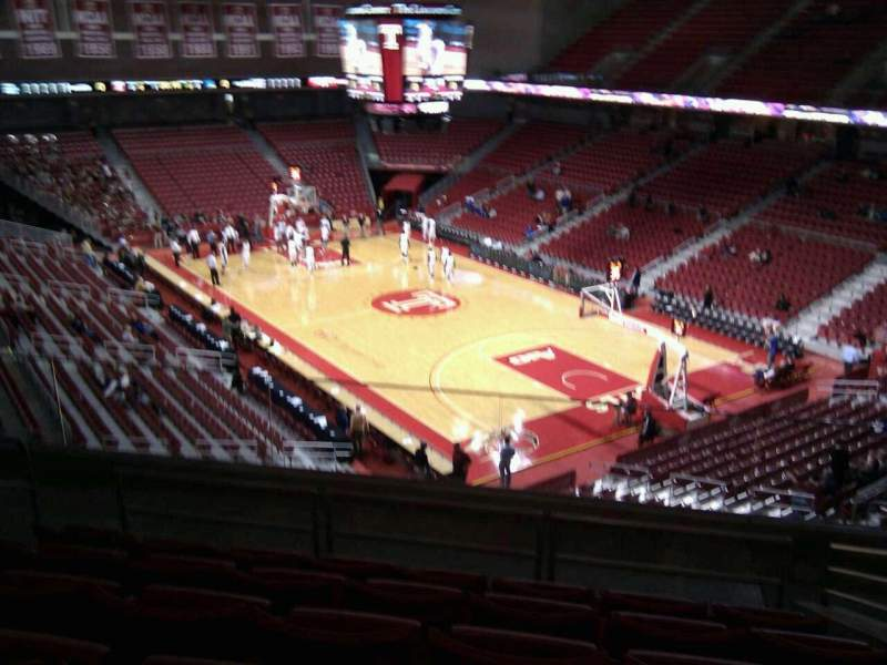 Seating view for Liacouras Center Section 210 Row h Seat 12