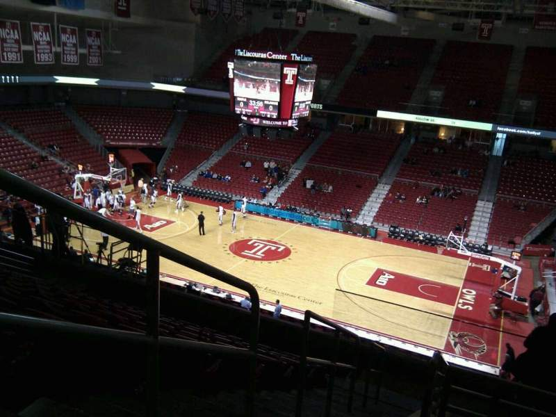 Seating view for Liacouras Center Section 211 Row k Seat 19