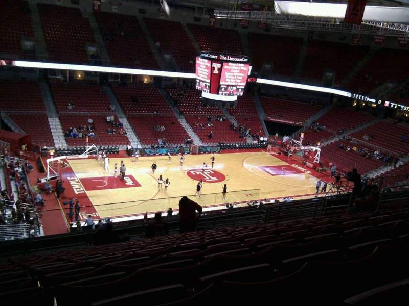 Seating view for Liacouras Center Section 215 Row p Seat 15