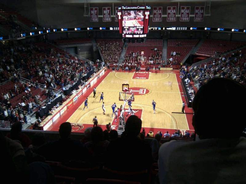 Seating view for Liacouras Center Section 208 Row h Seat 2