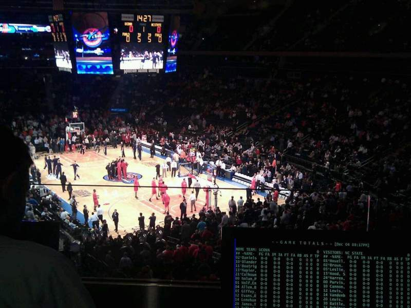 Seating view for Madison Square Garden Section 202 Row 2 Seat 7