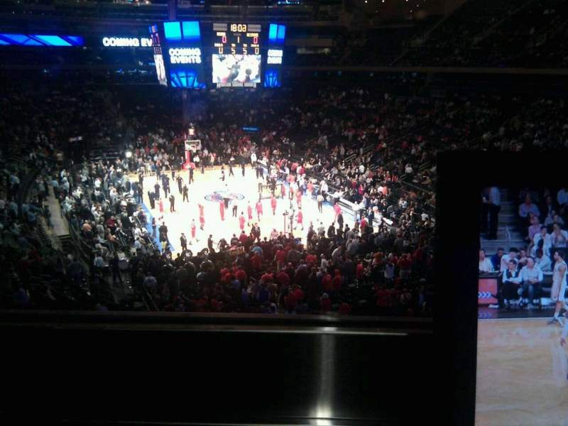 Seating view for Madison Square Garden Section 203 Row 1 Seat 4