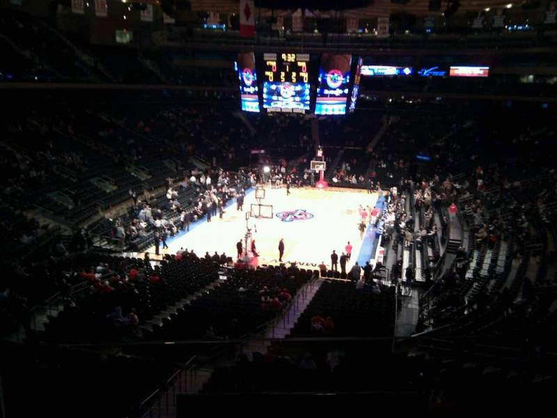 Seating view for Madison Square Garden Section 205 Row 2 Seat 1