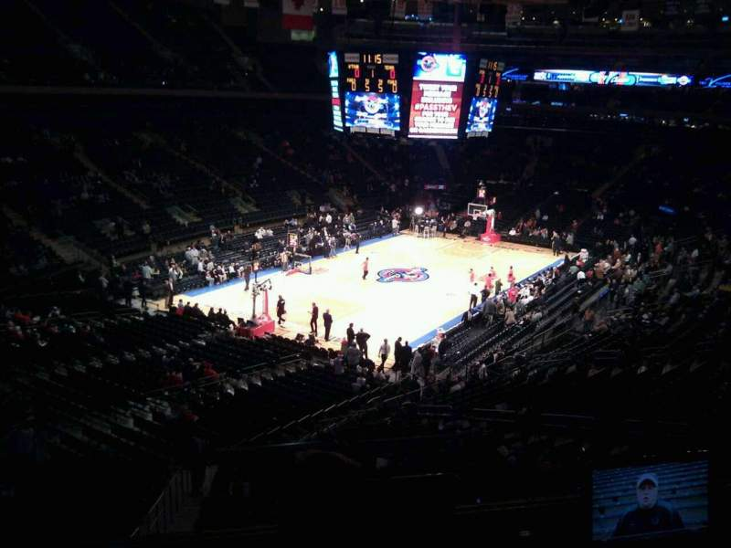 Seating view for Madison Square Garden Section 207 Row 1 Seat 3