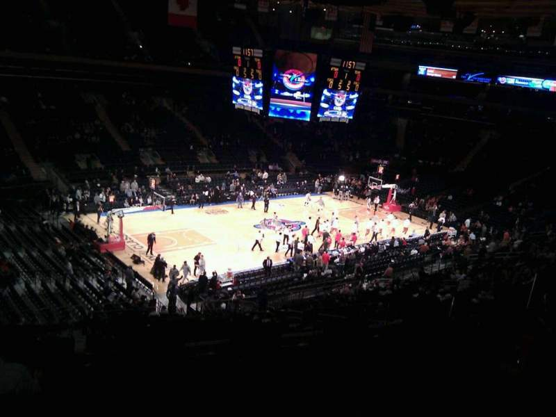 Seating view for Madison Square Garden Section 208 Row 6 Seat 13
