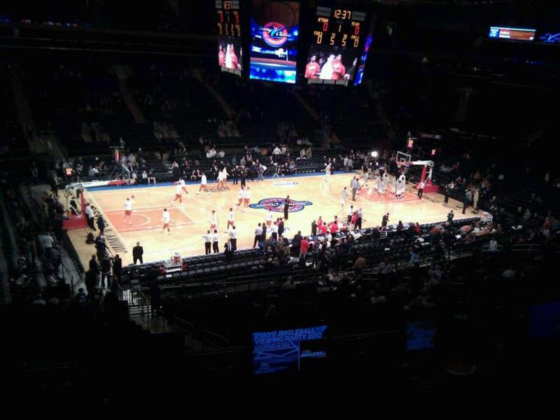Seating view for Madison Square Garden Section 209 Row 4 Seat 9