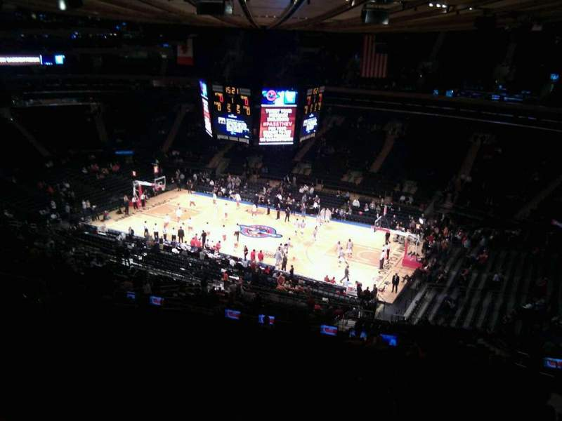 Seating view for Madison Square Garden Section 213 Row 17 Seat 17