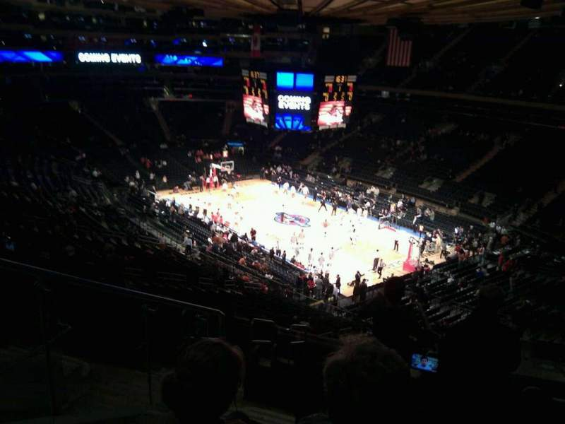 Seating view for Madison Square Garden Section 215 Row 12 Seat 5