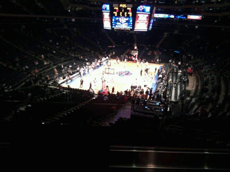 Seating view for Madison Square Garden Section 218 Row 2 Seat 22