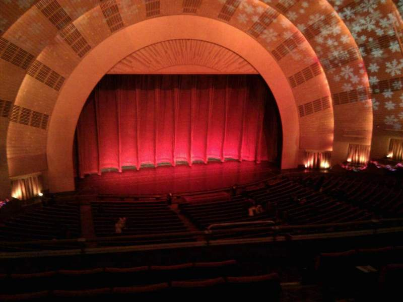 Seating view for Radio City Music Hall Section 2nd mezzanine 6 Row f Seat 604