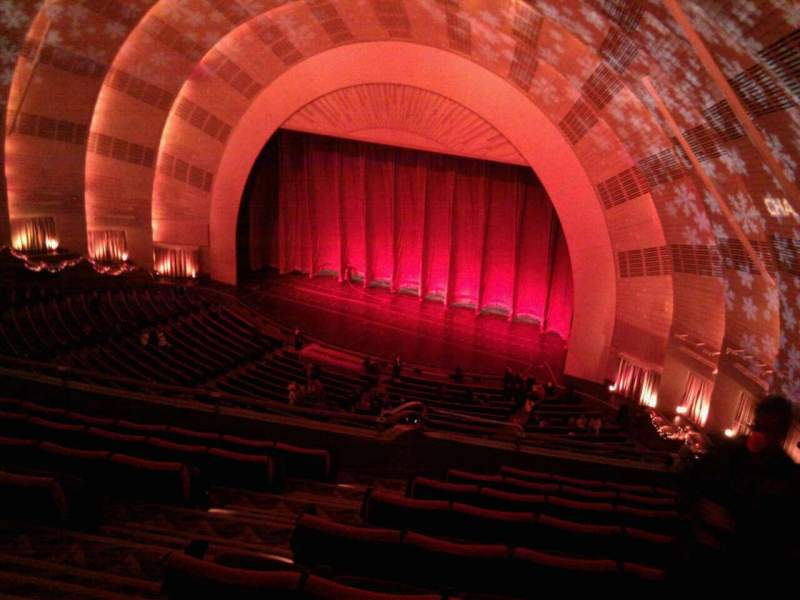 Seating view for Radio City Music Hall Section 3rd mezzanine 1 Row h Seat 109