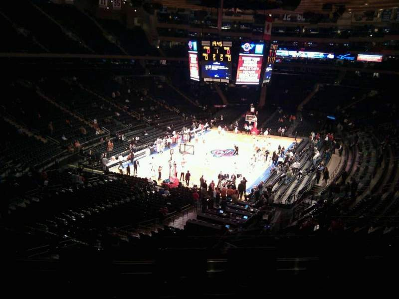 Seating view for Madison Square Garden Section 219 Row 5 Seat 10
