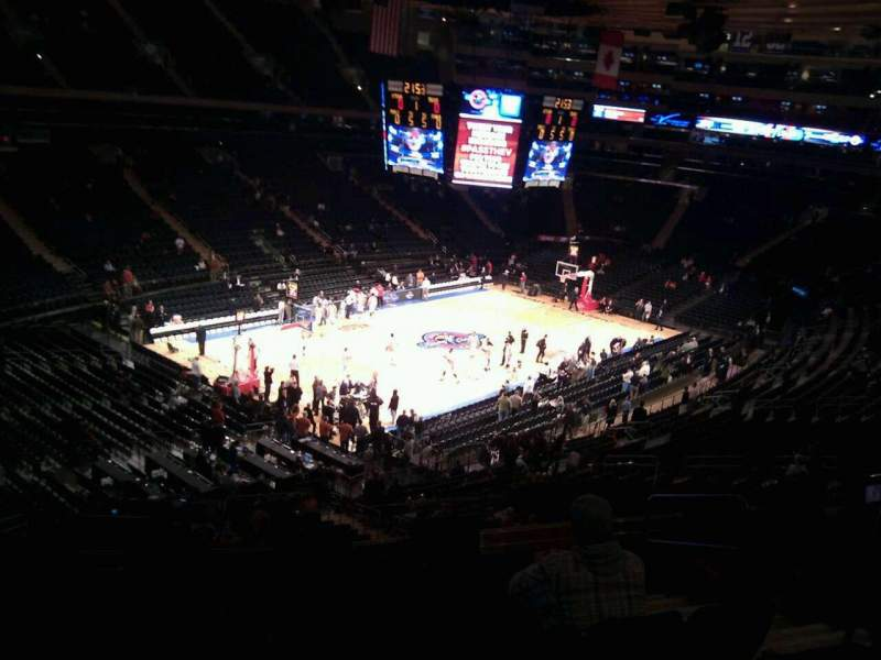 Seating view for Madison Square Garden Section 220 Row 7 Seat 21