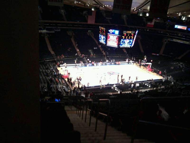 Seating view for Madison Square Garden Section 221 Row 22 Seat 23