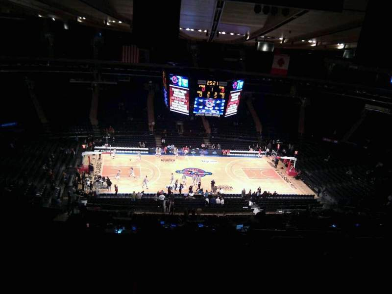 Seating view for Madison Square Garden Section 223 Row 22 Seat 10