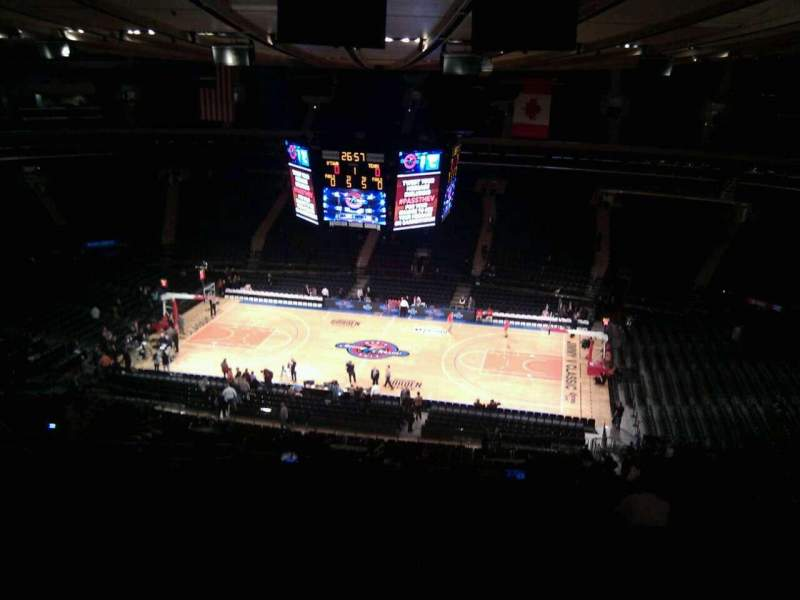 Seating view for Madison Square Garden Section 225 Row 15 Seat 5