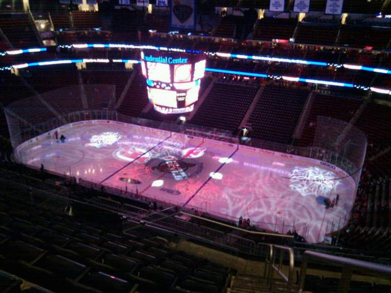 Seating view for Prudential Center Section 214 Row 9 Seat 1