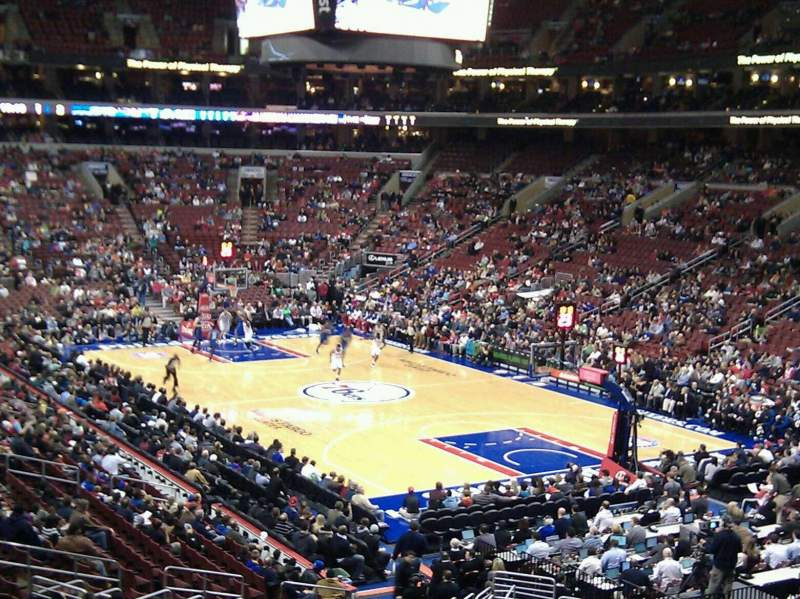 Seating view for Wells Fargo Center Section cc117 Row 1 Seat 9