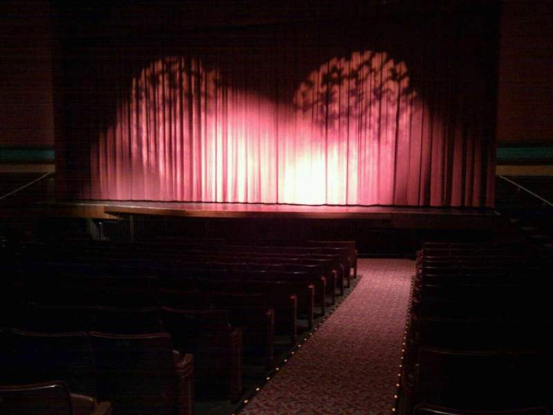 Seating view for Landis Theater Section orchestra right Row p Seat 2
