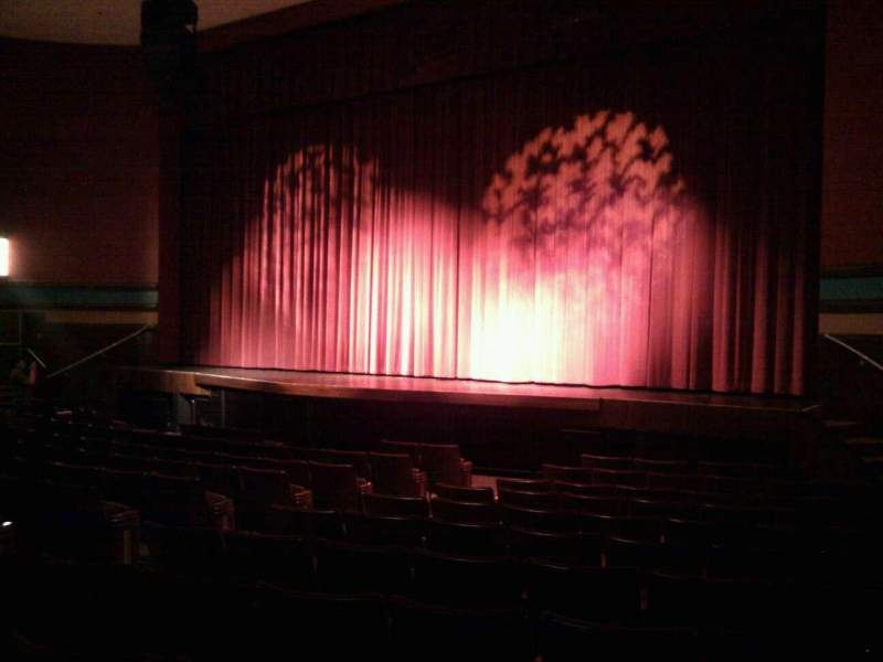 Seating view for Landis Theater Section orchestra right Row m Seat 18
