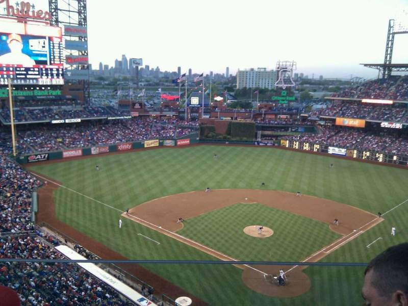 Seating view for Citizens Bank Park Section 421 Row 2 Seat 23