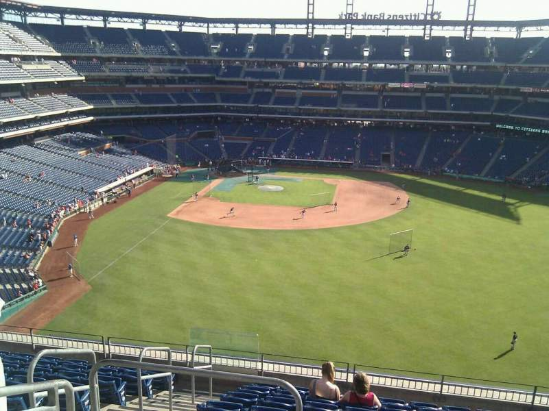 Seating view for Citizens Bank Park Section 302 Row 10 Seat 21