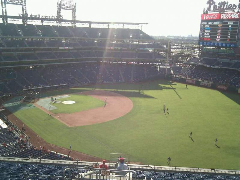 Seating view for Citizens Bank Park Section 308 Row 19 Seat 24